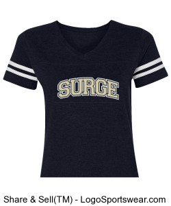 Ladies Vintage Football T-Shirt Design Zoom